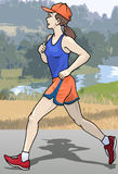 Female runner Stock Image