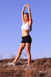 Female Runner. Beautiful asian woman runner on a bright afternoon Stock Images