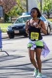 Female Runner Blue Ridge Marathon – Roanoke, Virginia, USA Stock Photo