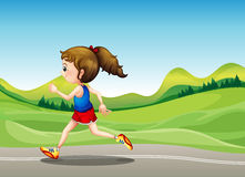 The female runner Royalty Free Stock Images