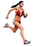 Female Runner. An illustration of a young woman running Royalty Free Stock Photo