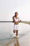 Female runner jogging Royalty Free Stock Image