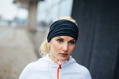 Female runner looking focused Stock Photography