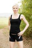 Female runner in nature Stock Photo