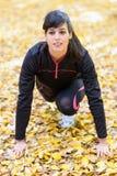 Female runner ready Stock Image
