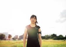 Female runner ready for morning workout Stock Image