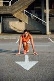 Female runner ready for running Stock Image