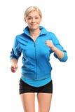 A female runner running stock photography