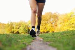 Female runner running in park Stock Photos