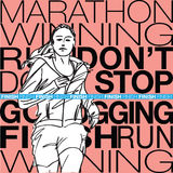 Female runner sketch illustration Royalty Free Stock Image