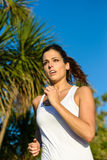 Female runner on summer outdoor Royalty Free Stock Photo