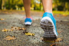 Female running shoes Stock Images