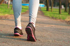 Female running shoes outdoors Royalty Free Stock Photos