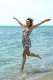 Female running water stock photos