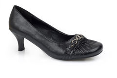 Female's black shoe Stock Image