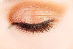 Female's closed eye. Royalty Free Stock Photography