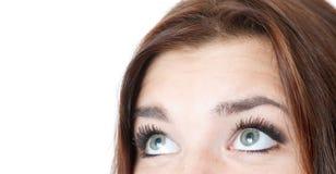 Female's eyes looking away Royalty Free Stock Image