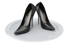 Female's shoes Royalty Free Stock Photography