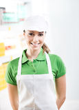 Female sales clerk working at supermarket Stock Photography