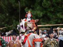 Female samurai warrior at Jidai Matsuri parade, Japan. Stock Photography