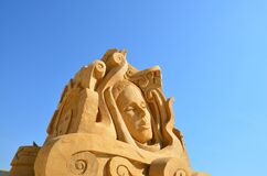 Female Sand Sculpture during Daytime Stock Images