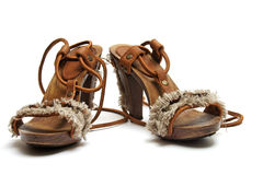 Female sandals as sabot Royalty Free Stock Photo
