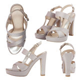 Female sandals isolated Stock Photos