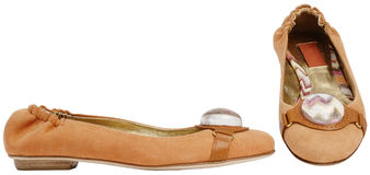 Female sandals. Isolated on a white background royalty free stock photo