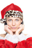 Female Santa Stock Photo