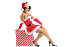 Female Santa Royalty Free Stock Photos