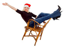 Female Santa Claus Royalty Free Stock Images
