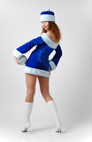 Female Santa in fancy dress Stock Images
