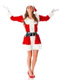 Female Santa isolated Royalty Free Stock Photo