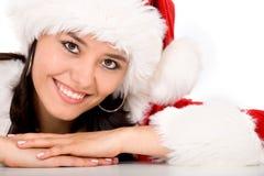Female santa portrait Stock Photography