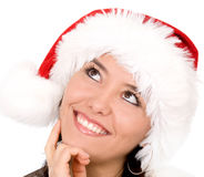 Female santa portrait Stock Photo
