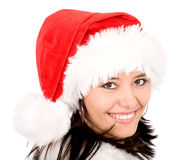 Female santa portrait Stock Images