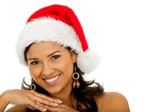 Female Santa smiling Royalty Free Stock Image