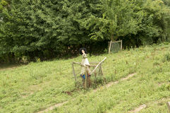 Female scarecrow in the Pyrenees Royalty Free Stock Photography