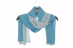Female scarf is on white royalty free stock image