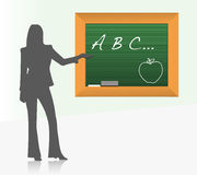 Female school teacher illustration Stock Photography