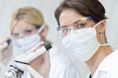 Female Scientific Research Team in a Laborator Stock Photography