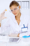 Female scientific researcher in laboratory Royalty Free Stock Image