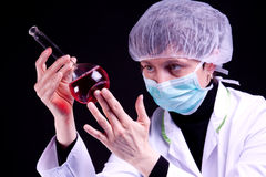 Female Scientist experimenting Royalty Free Stock Photo