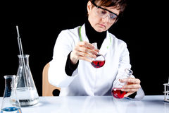 Female Scientist experimenting Stock Photography