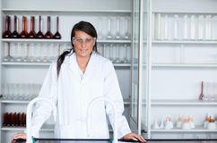 Female scientist in a laboratory Stock Photos
