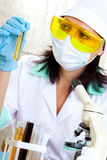 Female scientist Stock Photography