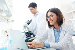 Female scientist at work Royalty Free Stock Photography