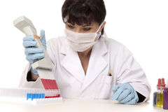 Female scientist working in lab Royalty Free Stock Photo