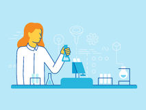 Female scientist working in the lab Royalty Free Stock Image