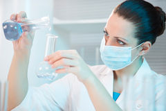 Female scientist working in laboratory Stock Image